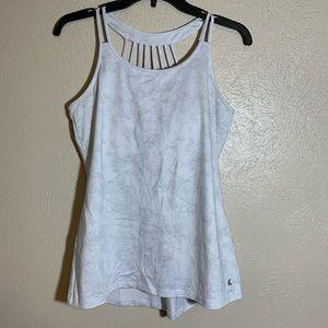 💜 Kyodan white/ gray built in bra Strappy …